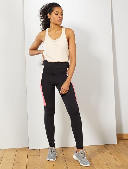 Legging de sport avec poches latérales                                         noir