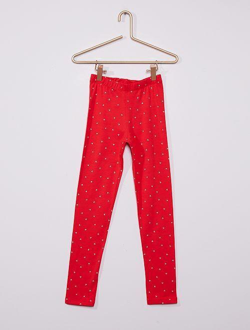 Legging éco-conçu                                                                                                                             rouge
