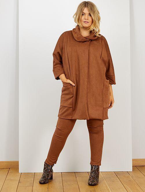 Legging effet daim                             camel