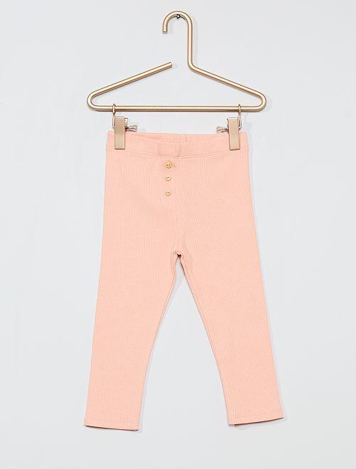 Legging en maille côtelé                                                                 rose