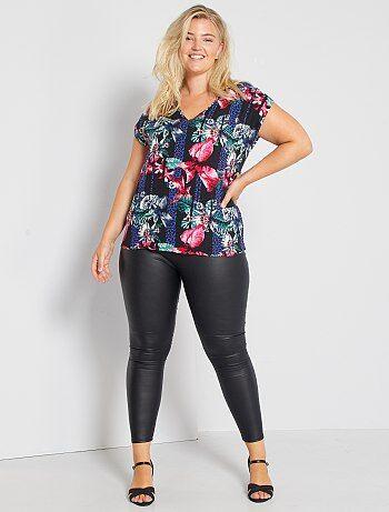 Grande taille femme - Legging en simili - Kiabi