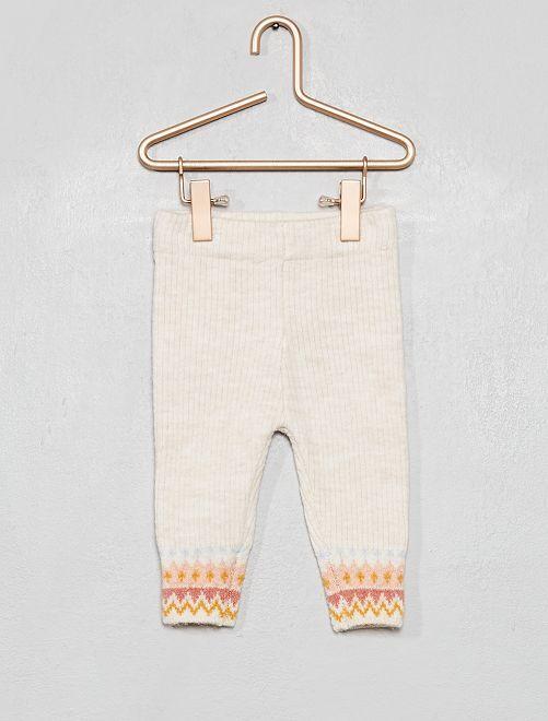 Legging en tricot                             beige