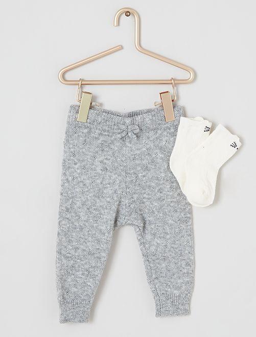 Legging en tricot                             gris