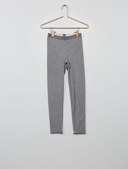 Legging façon tricot                                         gris
