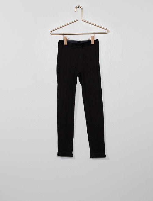 Legging façon tricot                                         noir