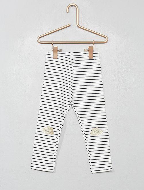 Legging imprimé                                                                                         blanc/rayé