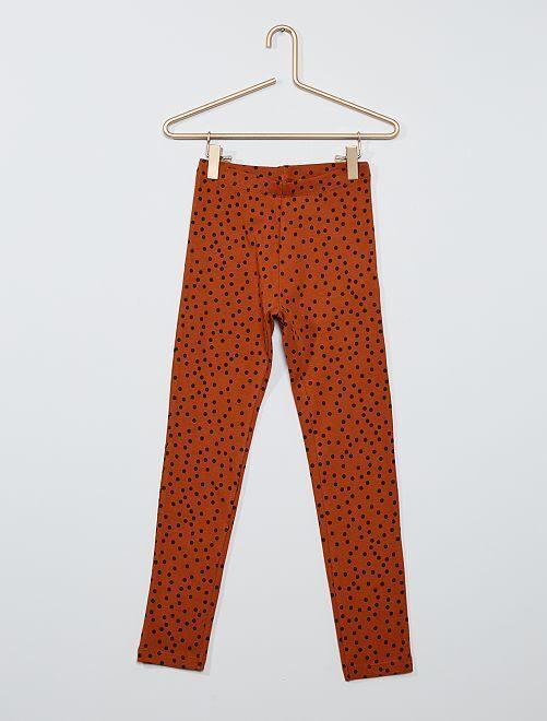 Legging imprimé éco-conçu                                                                                                                 marron pois