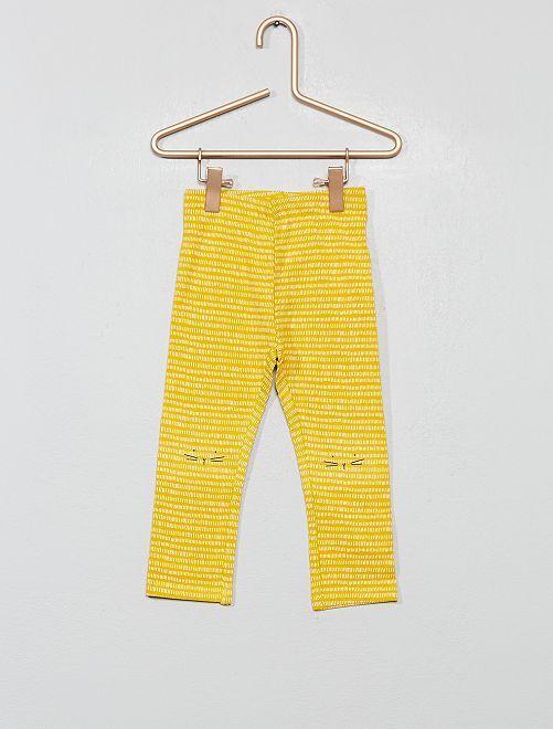 Legging imprimé                                                                                                                                         jaune Bébé fille