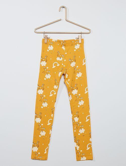 Legging imprimé 'licornes' éco-conçu                                                                                                                 jaune licornes