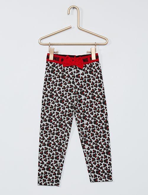 Legging imprimé 'Minnie'                                         gris/rouge