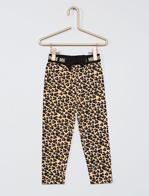 Legging imprimé 'Minnie'                                         noir/beige