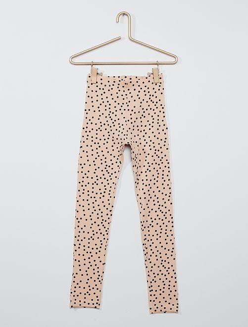 Legging imprimé 'pois' éco-conçu                                                                                                                 beige rosé/noir