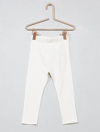 Legging jersey stretch                                                                                                                                                                                 blanc Bébé fille