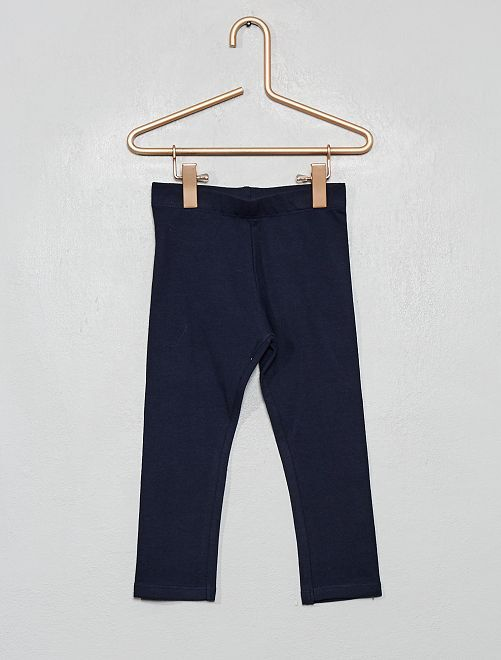 Legging jersey stretch                                                                                                                                                                 bleu foncé  Bébé fille
