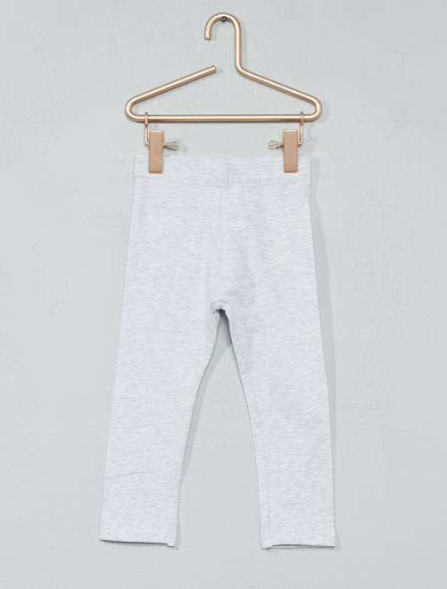 Legging jersey stretch                                                                                         gris chiné