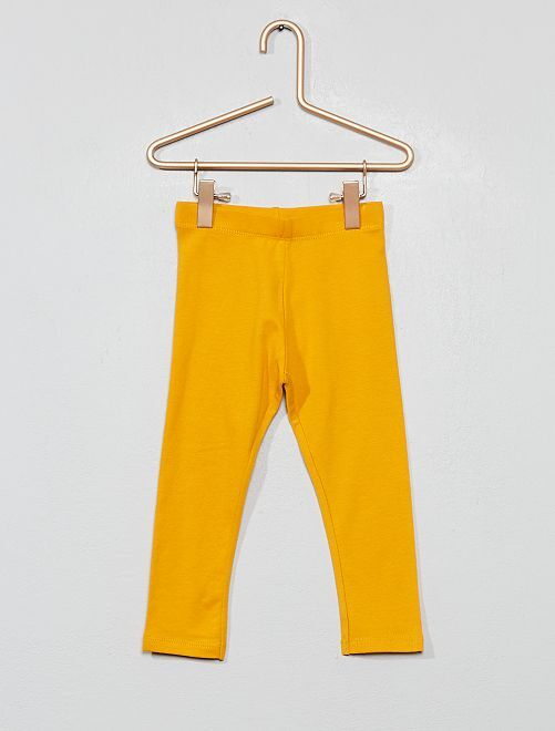 Legging jersey stretch                                                                                                                                                                                                                 jaune safran