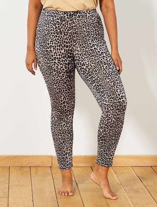 Legging léopard                             léopard Grande taille femme
