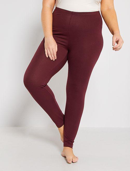 Legging long coton stretch                                                                 bordeaux