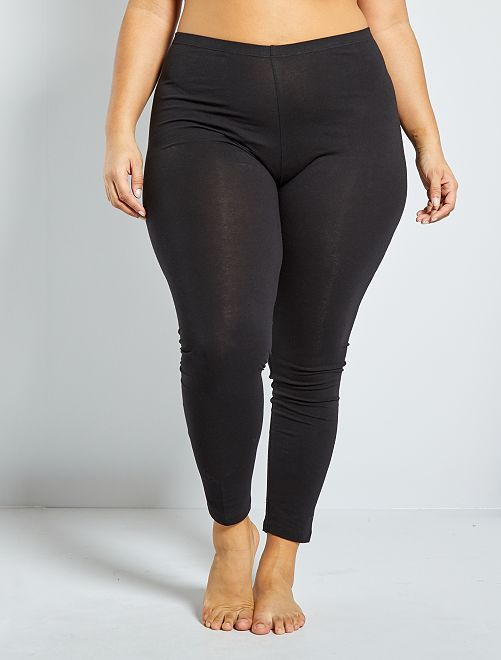 Legging long coton stretch                             noir