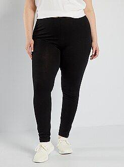 Grande taille femme Legging long coton stretch