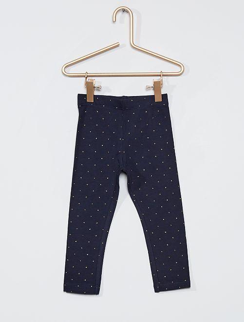 Legging long éco-conçu                                                                                                                                                                                                                             bleu nuit pois