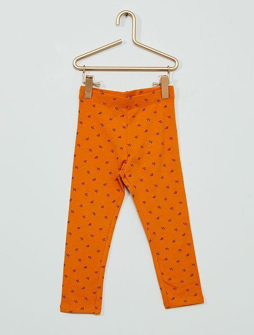 Legging long éco-conçu                                                                                                                                                                 orange