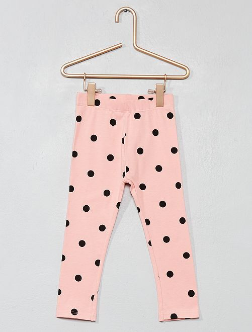 Legging long imprimé all over                                                                             rose pois