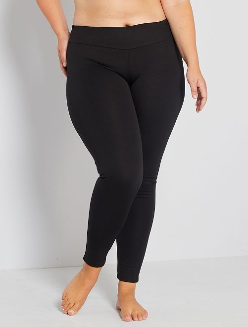Legging maille galbante                             noir Grande taille femme