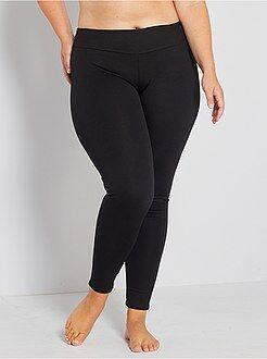 Grande taille femme Legging maille galbante
