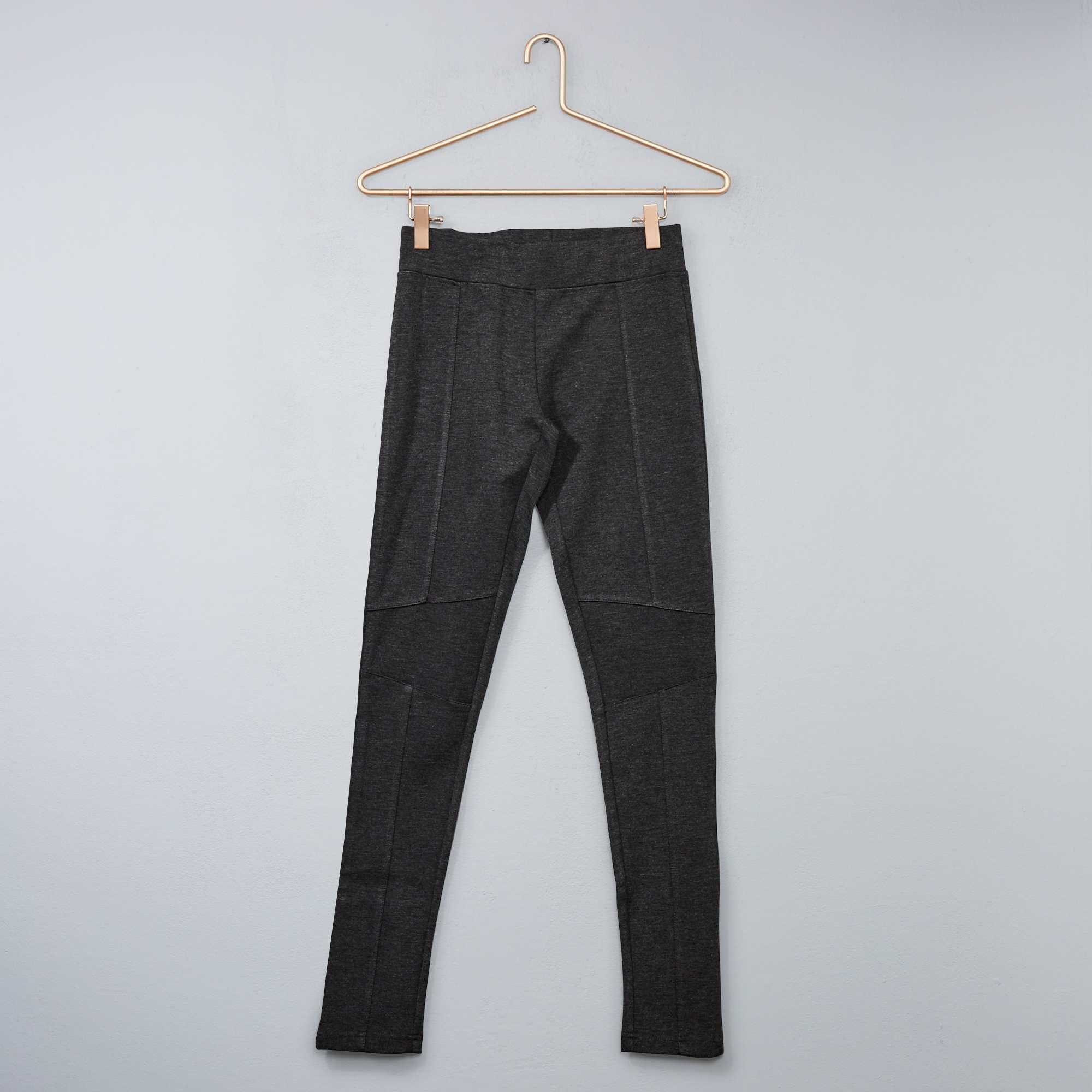 Couleur : gris chiné foncé, , ,, - Taille : 10A, M, 12A,S,XSOn allie confort et style avec le legging en maille milano. - Legging en maille