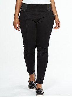 Pantalon noir - Legging maille milano larges élastiques