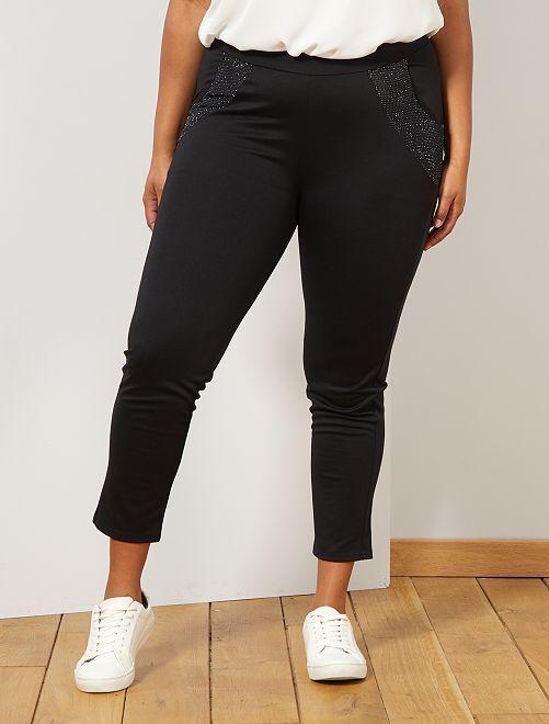 Legging poches pailletées                             noir