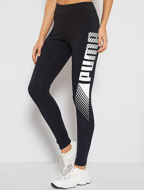 Legging 'Puma' en coton stretch                             noir
