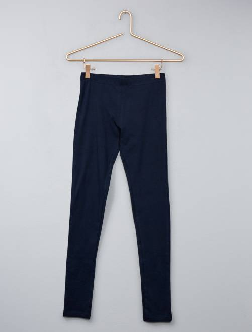 Legging stretch uni                                                     bleu marine