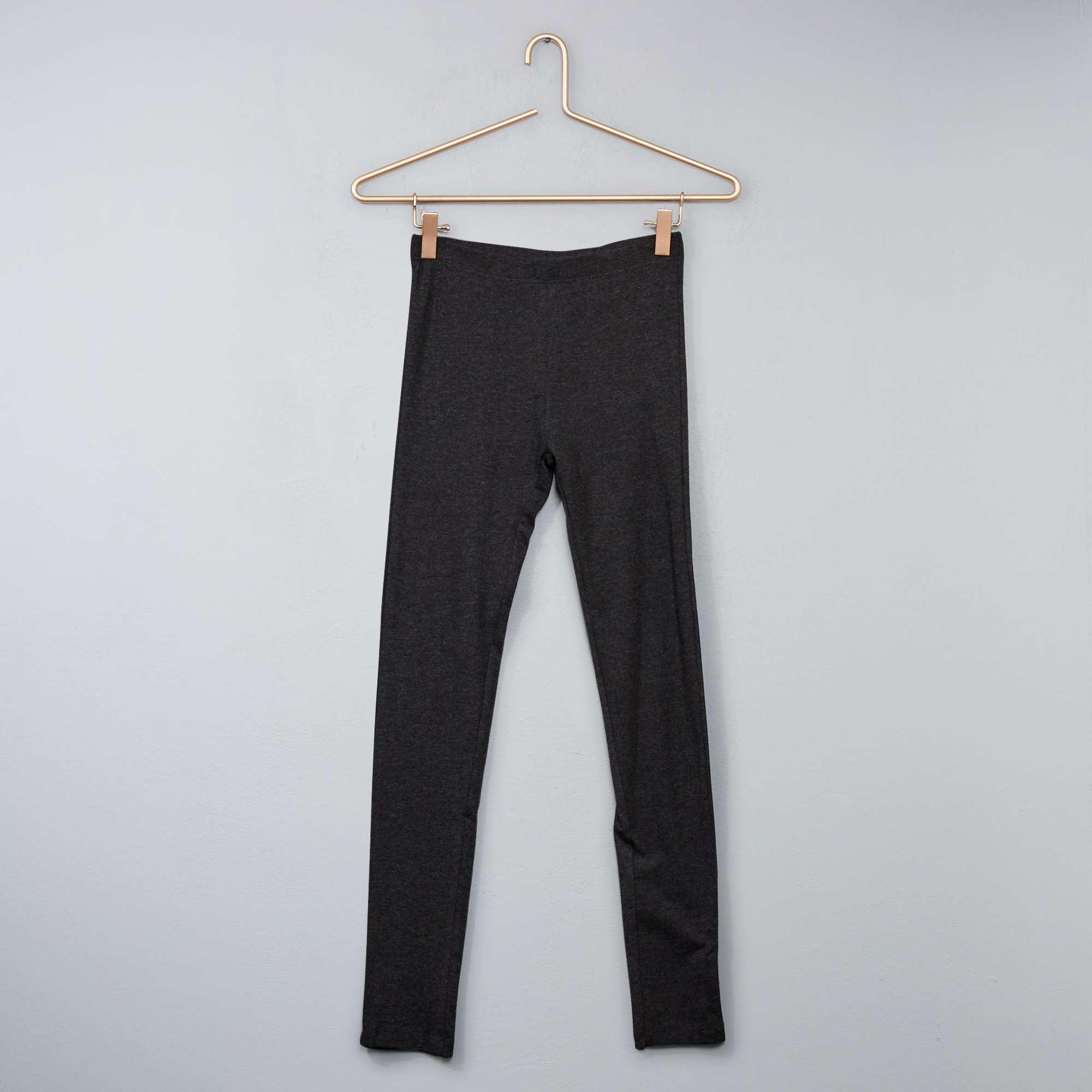 Couleur : noir, bleu marine, gris chiné foncé,, - Taille : 12A, 10A, S,XS,MBasique mode ! Le legging long stretch uni, taille élastique.