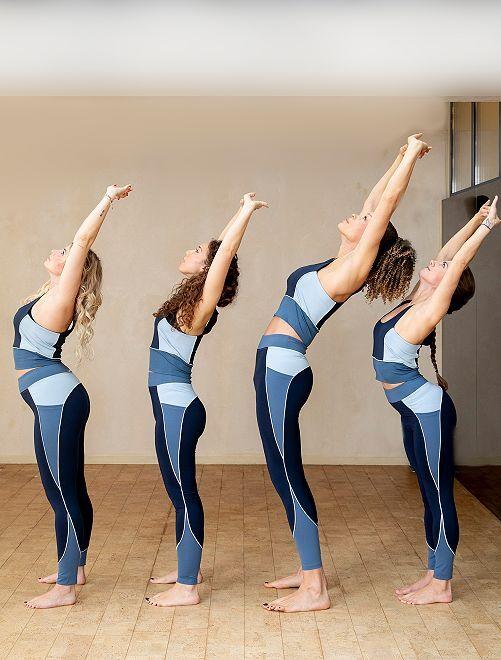 Legging technique de yoga                                         bleu