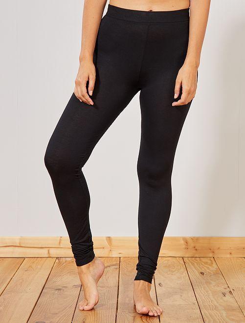 Legging uni                                         noir Femme