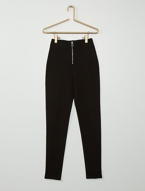 Legging zippé en maille milano                             noir