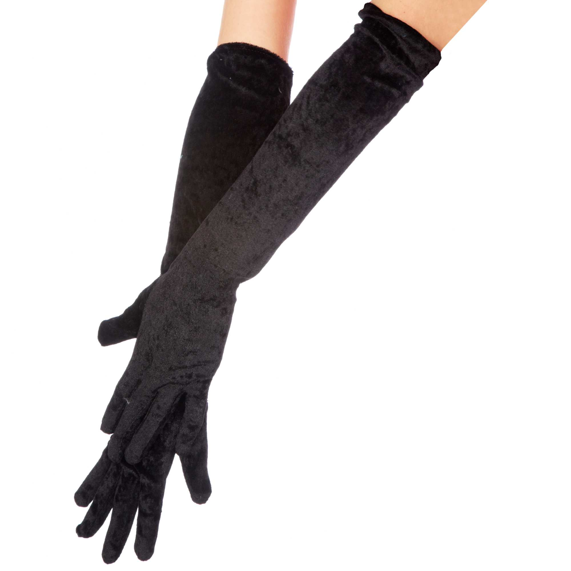 longs gants unis en velours accessoires noir kiabi 4 00. Black Bedroom Furniture Sets. Home Design Ideas