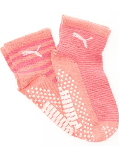 Lot 2 paires de chaussettes antidérapantes 'Puma'                                         rose