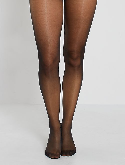 Lot 2 paires de collants 20D                                                                 noir