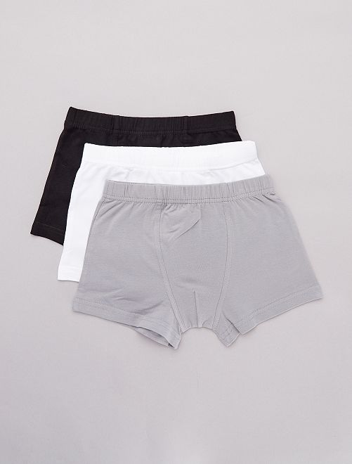 Lot 3 boxers                                         blanc/gris/noir