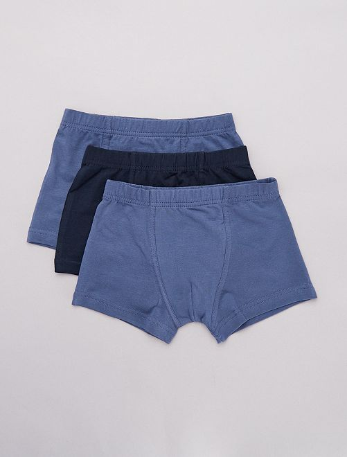 Lot 3 boxers                                         bleu marine