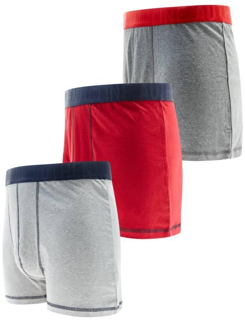 lot 3 boxers grande taille grande taille homme gris. Black Bedroom Furniture Sets. Home Design Ideas