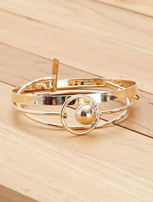 Lot 3 bracelets jonc                             doré