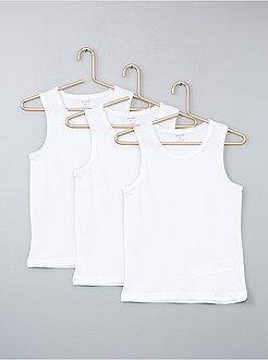 Sous-vêtement - Lot 3 débardeurs coton - Kiabi