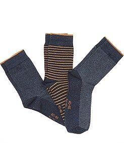Homme du S au XXL Lot 3 paires de chaussettes