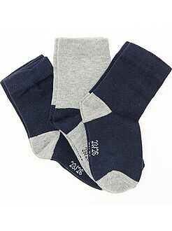 Chaussettes - Lot 3 paires de chaussettes - Kiabi