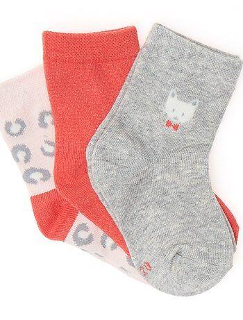 Lot 3 paires de chaussettes fantaisies - Kiabi