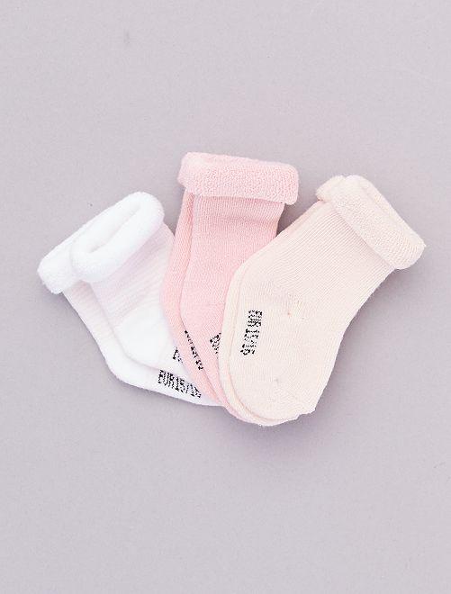 Lot 3 paires de chaussettes                                                                             rose